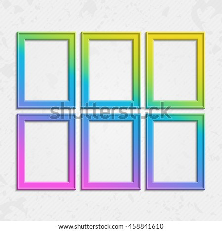 Set Colorful Wooden Frames Wooden Square Stock Vector 458841610 ...