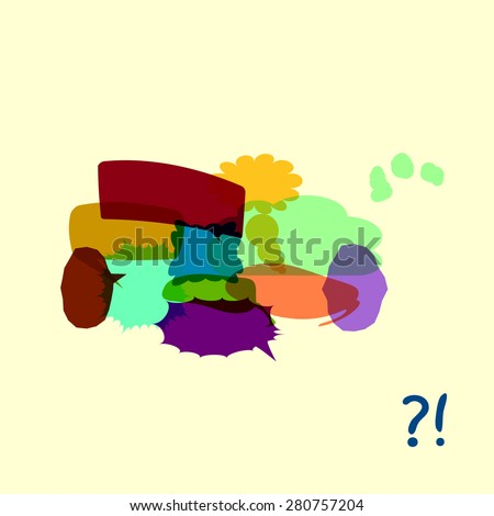 Set of colorfull speech bubbles