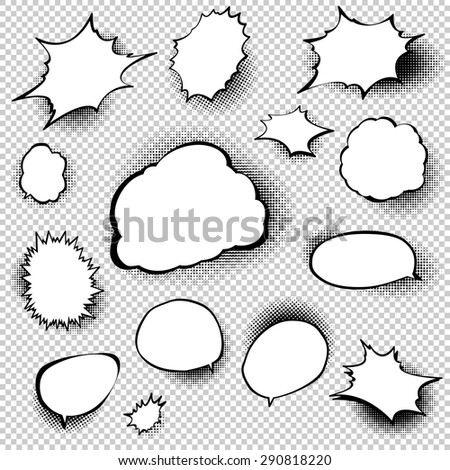 Set of comic style speech bubbles. EPS 10 vector file included - stock vector