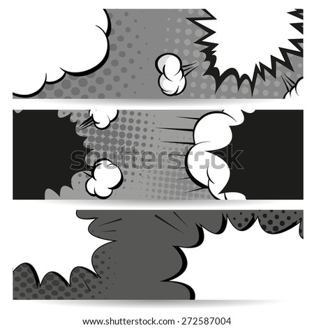 Set of comics boom backgrounds, vector illustration - stock vector