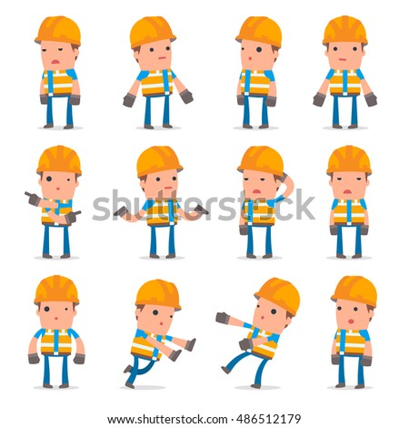 Set Confused Sad Character Ignorance Poses Stock Vector Hd Royalty
