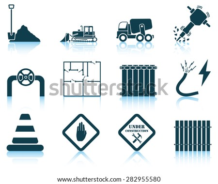 Set of construction icon. EPS 10 vector illustration without transparency. - stock vector