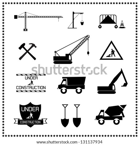 set of construction icons, Vector illustration - stock vector