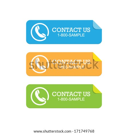 Set of Contact Paper Sticker Banners - stock vector