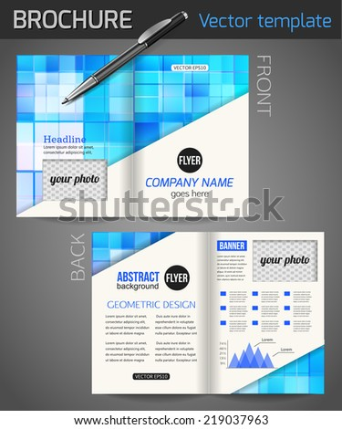 Set corporate business stationery templates abstract stock vector hd set of corporate business stationery templates abstract brochure design modern back and front flyer wajeb Image collections