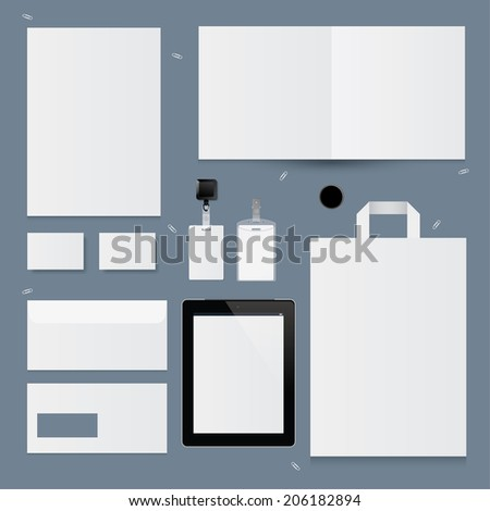 Set of corporate identity templates. Vector illustration - stock vector