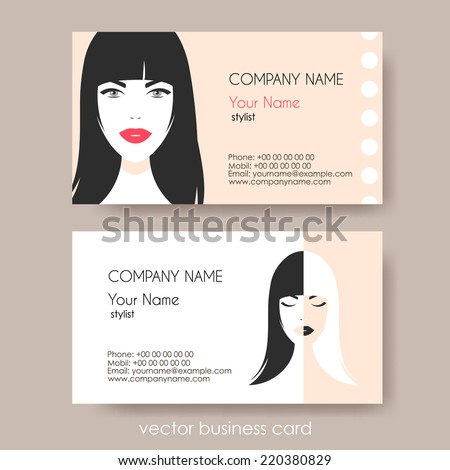 Set cosmetic business cards on grey stock photo photo vector set of cosmetic business cards on grey background vector illustration colourmoves