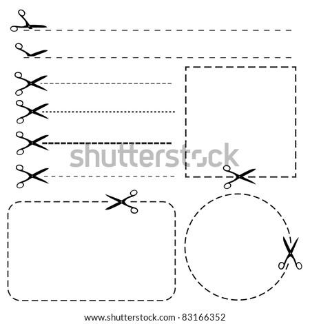 Set of coupon borders - stock vector