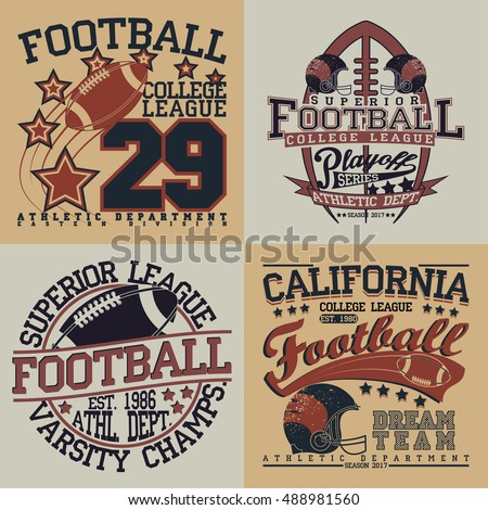 Football graphics stock images royalty free images for College football t shirt designs
