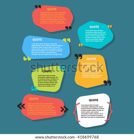set of  Creative Quote bubble template.