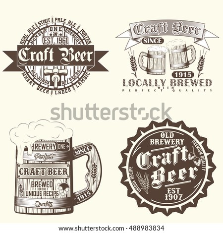 Beer festival stock photos royalty free images vectors for Craft beer logo design