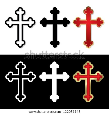 Set of Crosses - vector illustration