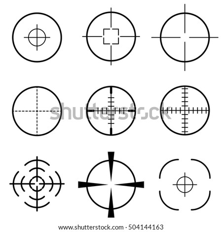 Set of crosshair scope target