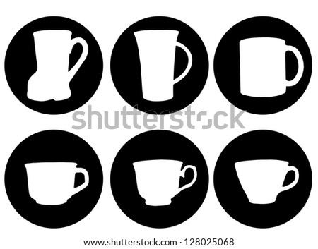Set of cups icon,vector illustration - stock vector
