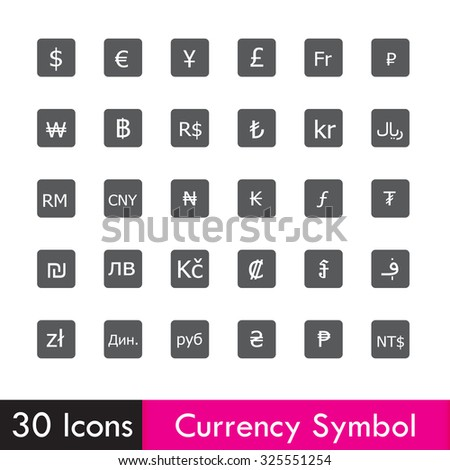 Set of Currency and business icon isolated on white background vector illustration eps10 - stock vector