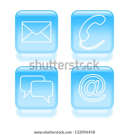 Set of customer support icons. Vector illustration. - stock vector