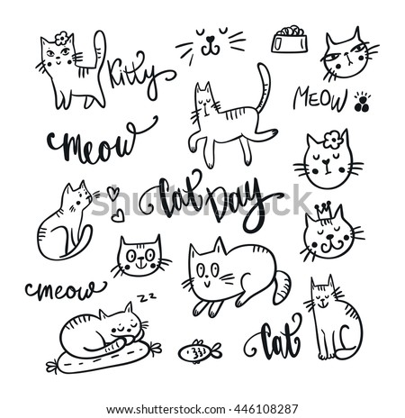Assez Cat Drawing Stock Images, Royalty-Free Images & Vectors | Shutterstock HO46