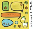 set of cute childlike text frames. vector illustration - stock vector