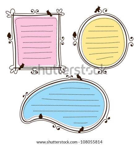 set of cute frame - stock vector