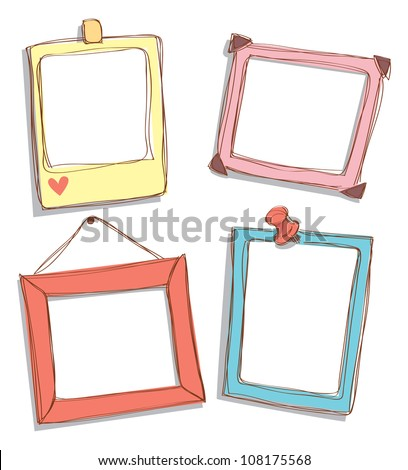 set of cute frame - stock vector