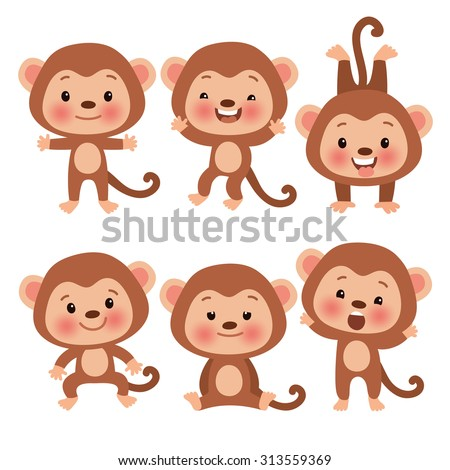 cartoon hanging monkey pictures