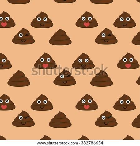 Set of cute poop texture - vector - stock vector