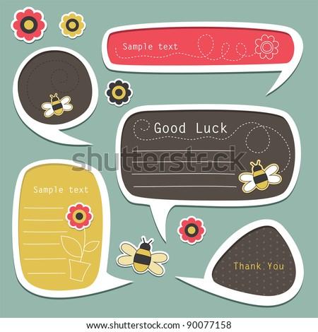 set of cute text frames. vector illustration - stock vector