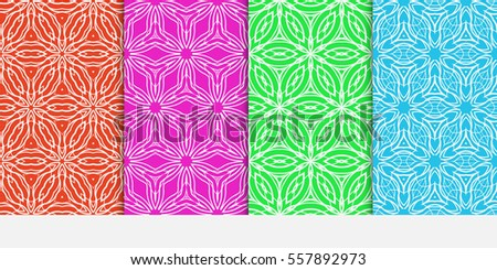 Set damask floral seamless pattern lace stock vector royalty free set of damask floral seamless pattern lace background luxury texture for wallpaper invitation stopboris Image collections