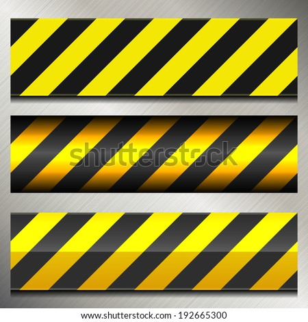 Set of Danger and Police Warning Lines - stock vector