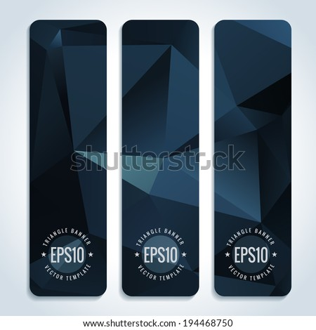 Set of dark website banner templates - stock vector