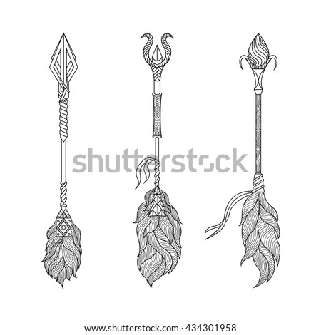 Set of decorative arrows