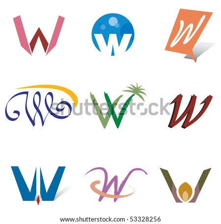 set of decorative letter s icons elements for logo design