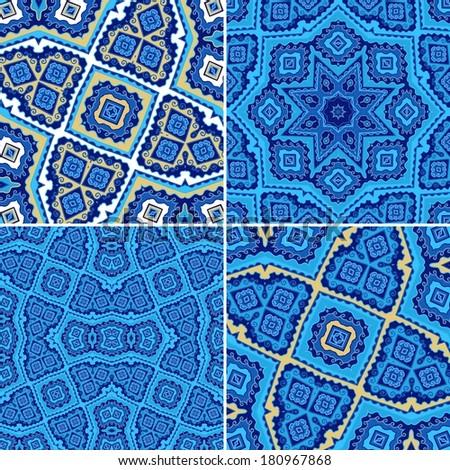 Set  of decorative seamless patterns - stock vector