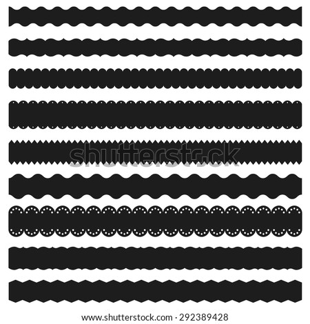 Set of decorative tapes and borders - stock vector