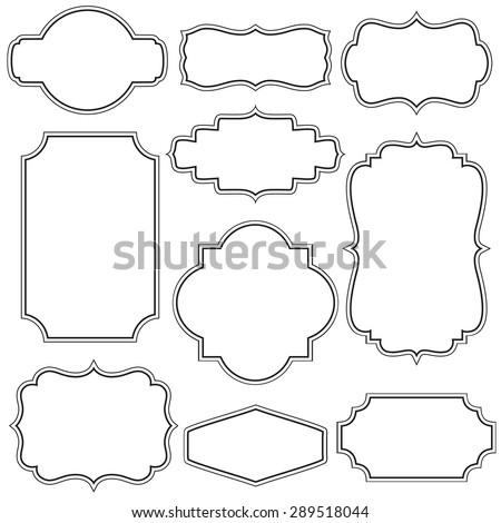 Set of decorative vintage frames - stock vector