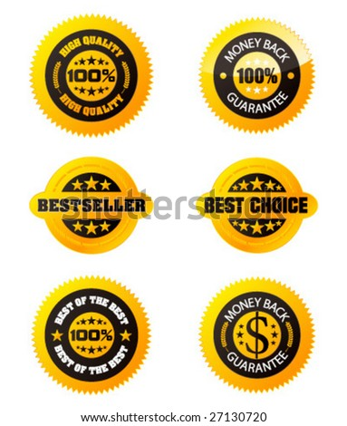Set of design elements. Vector awards for your business site. - stock vector