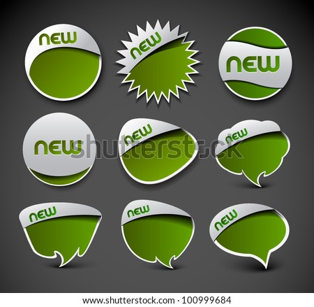 Set of design of advertisement labels stickers. - stock vector