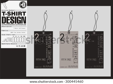 Set of detailed t-shirt tags - stock vector