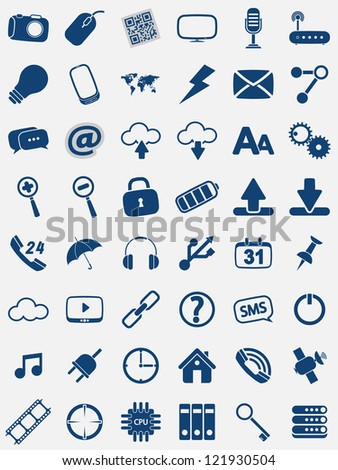 set of detailed web icons - stock vector