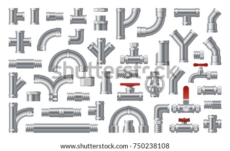 Pipes stock images royalty free images vectors for Types of plumbing pipes