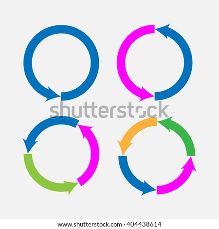 Set of Different arrow circles