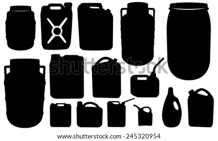 set of different canisters isolated - stock vector