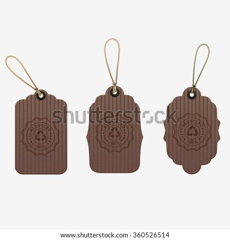 Set of Different Cardboard Vector Tags