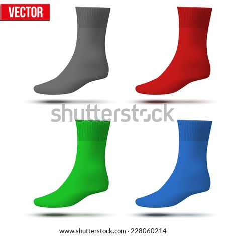 realistic layout socks template simple example stock vector