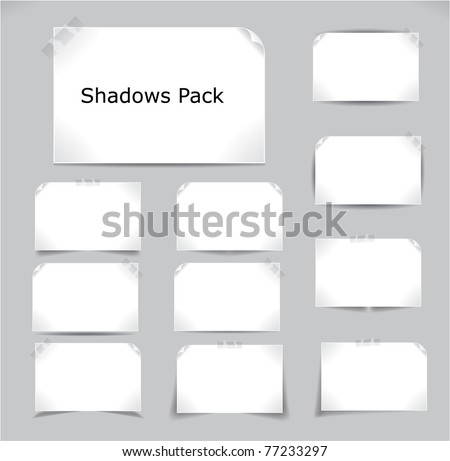 Set of different complex shadows. Vector illustration. - stock vector