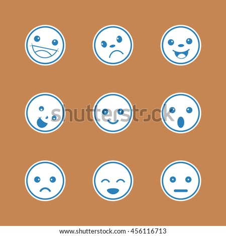 Set of different emotions icons