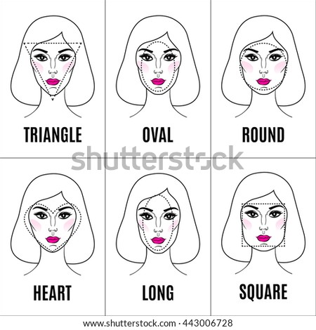 Face shape stock images royalty free images vectors shutterstock set of different face shapes collection of woman faces vector illustration urmus Image collections