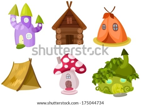 set of different houses - stock vector
