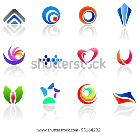 Set of different icons for your design (part 5). Please visit my gallery to see similar. - stock vector
