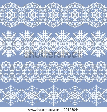 Set of different lace patterns. - stock vector